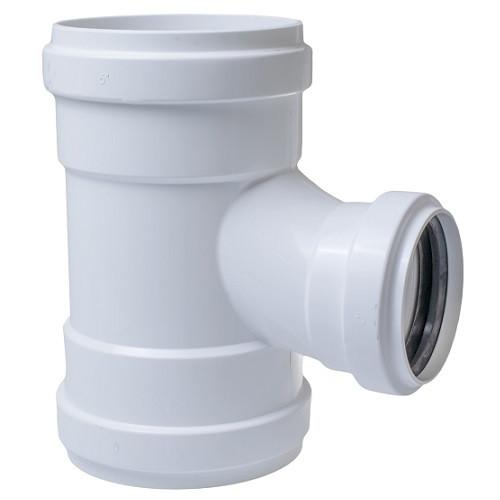 "8"" x 8"" x 6"" PVC SDR26 Heavy Wall GJ Sanitary Tee (G x G x G)"