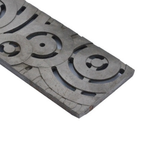 ABT Polydrain Raw Ductile Iron Rain Drops Heel Proof Grate