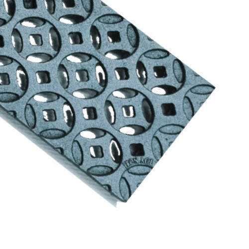 ABT Polydrain Raw Ductile Iron Imperial Star Heel Proof Grate