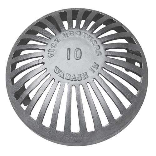12 Quot Aluminum Dome Grate The Drainage Products Store