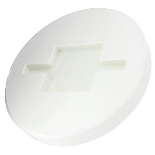 """6"""" PVC Cleanout Countersunk Plug (MPT)"""