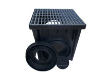 Nds 24 Quot Two Hole Catch Basin Kit W Galvanized Metal Grate