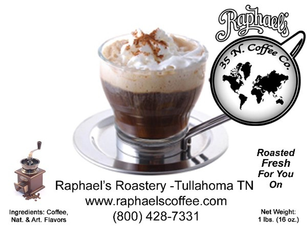 Certified Fair Trade, with deep, rich chocolate, Irish Cream and caramel flavors.