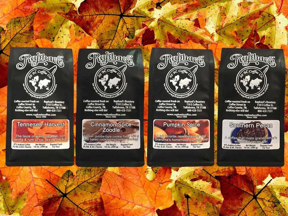 Fall Favorites 4-Pack - A delicious way to sample several flavors of fall.