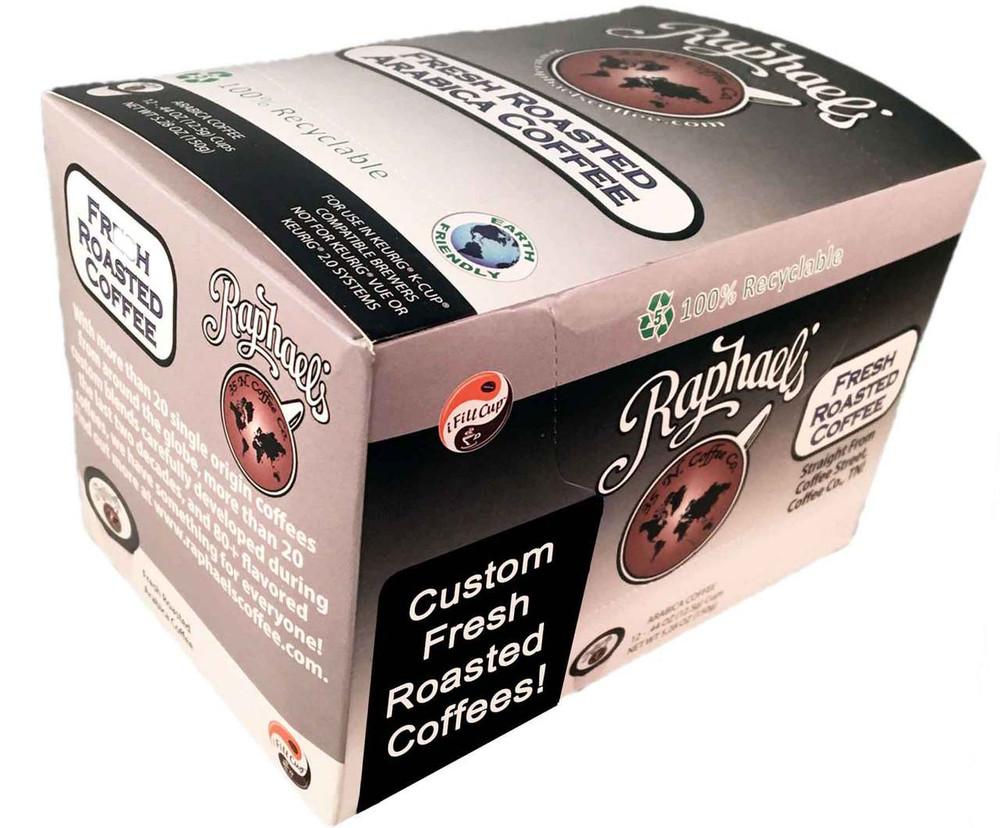 Custom Flavored - Box of 12 Single-Serve Cups
