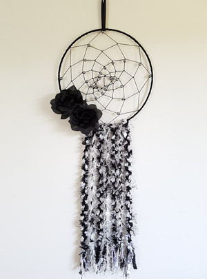 Black and Silver Grey Dreamcatcher 1