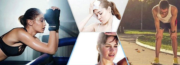 Image of 4 People Sweating