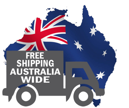 Australia Map Flag and Courier Van