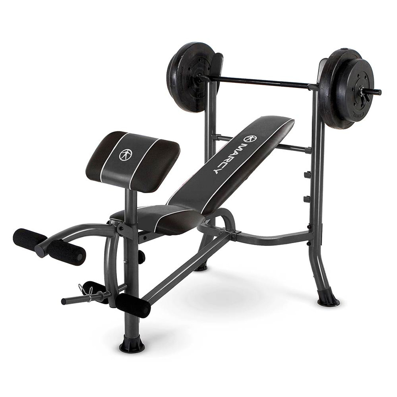 The Marcy Standard Weight Bench With 80 Lb. Weight Set MWB 20101 Is