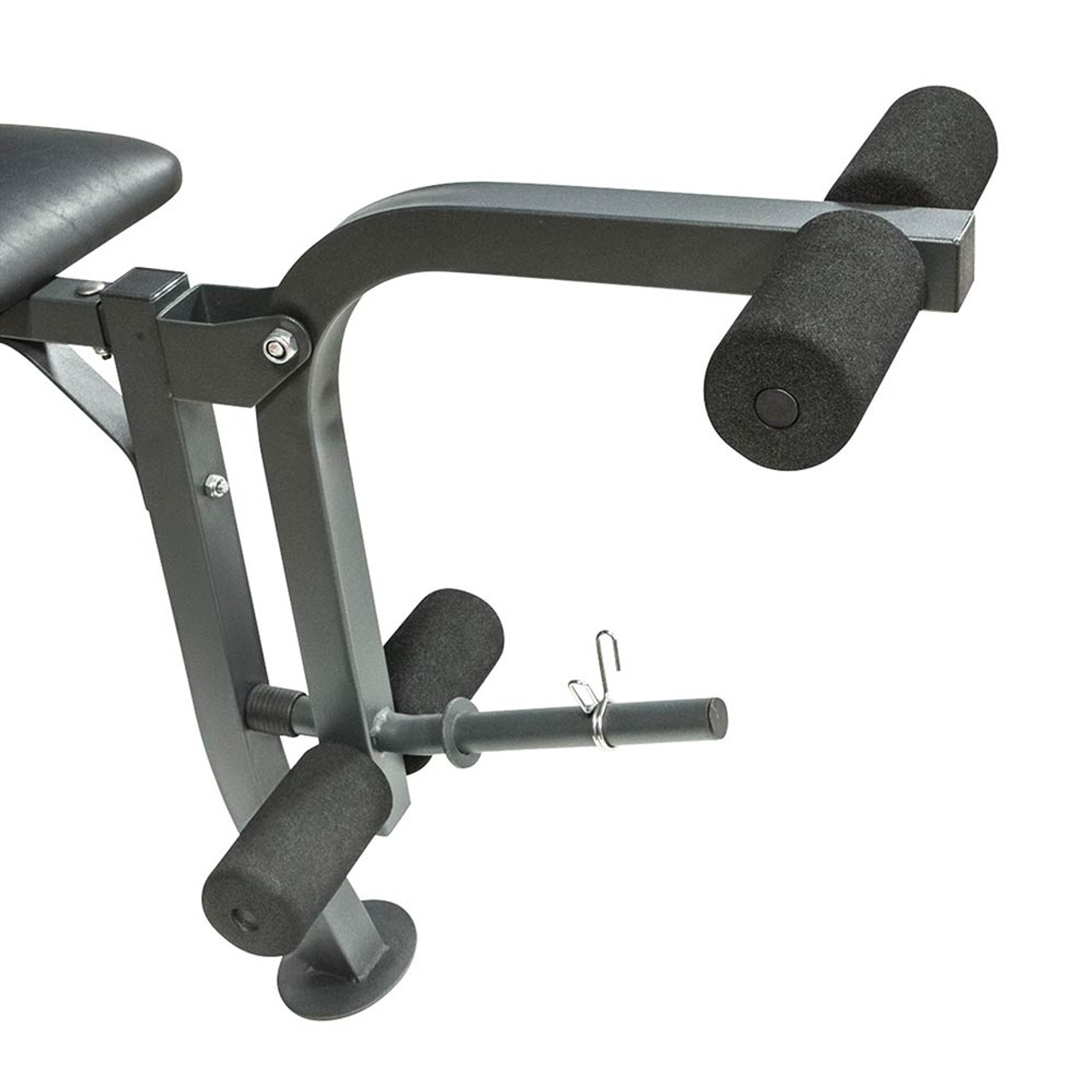 The Marcy Weight Bench 80lb Weight Set MD-2080 includes a leg developer to deliver a full body workout