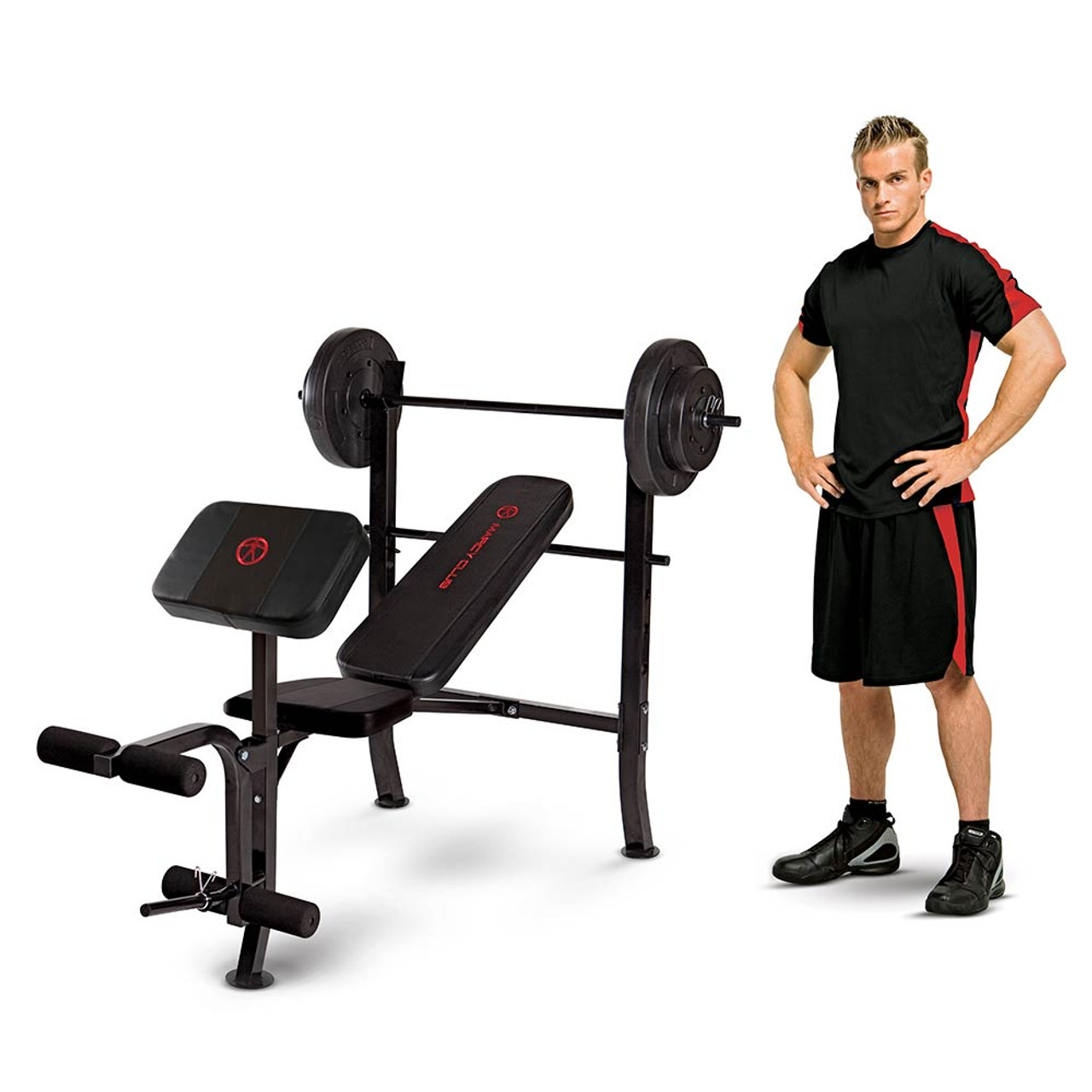 The Standard Weight Bench Marcy MKB-2081 includes weight for your convenience