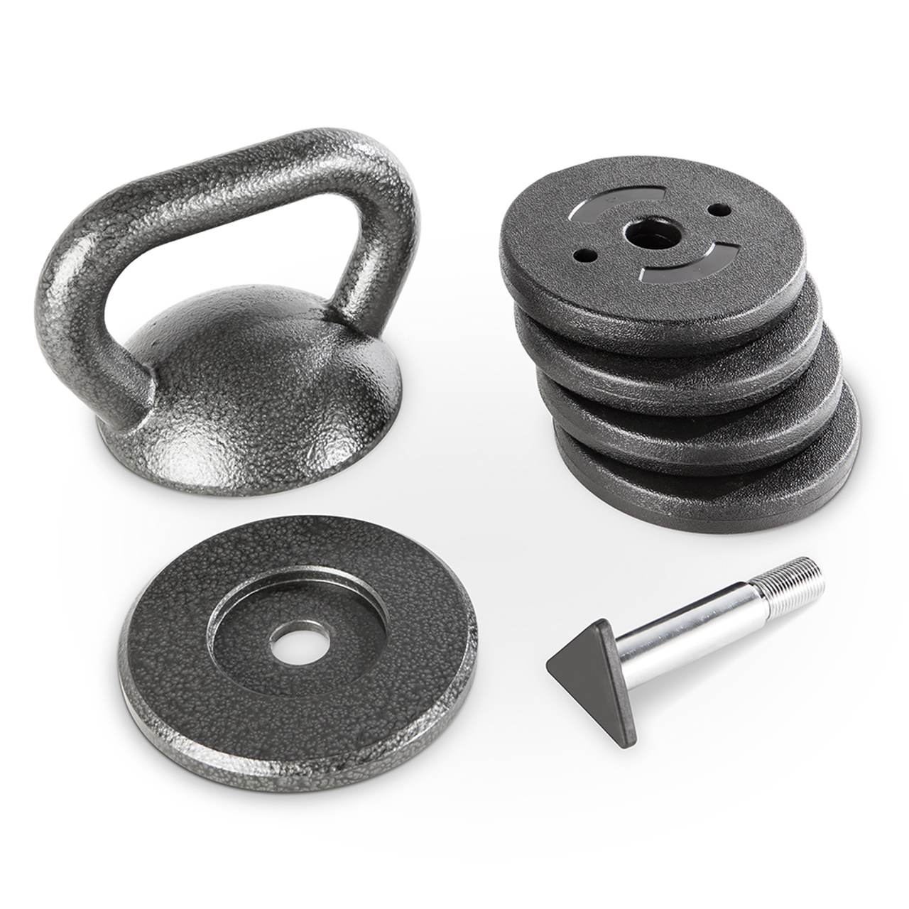 One Kettlebell for multiple workouts - with optimal grip this multi-function weight will deliver a wide variety of workouts at home