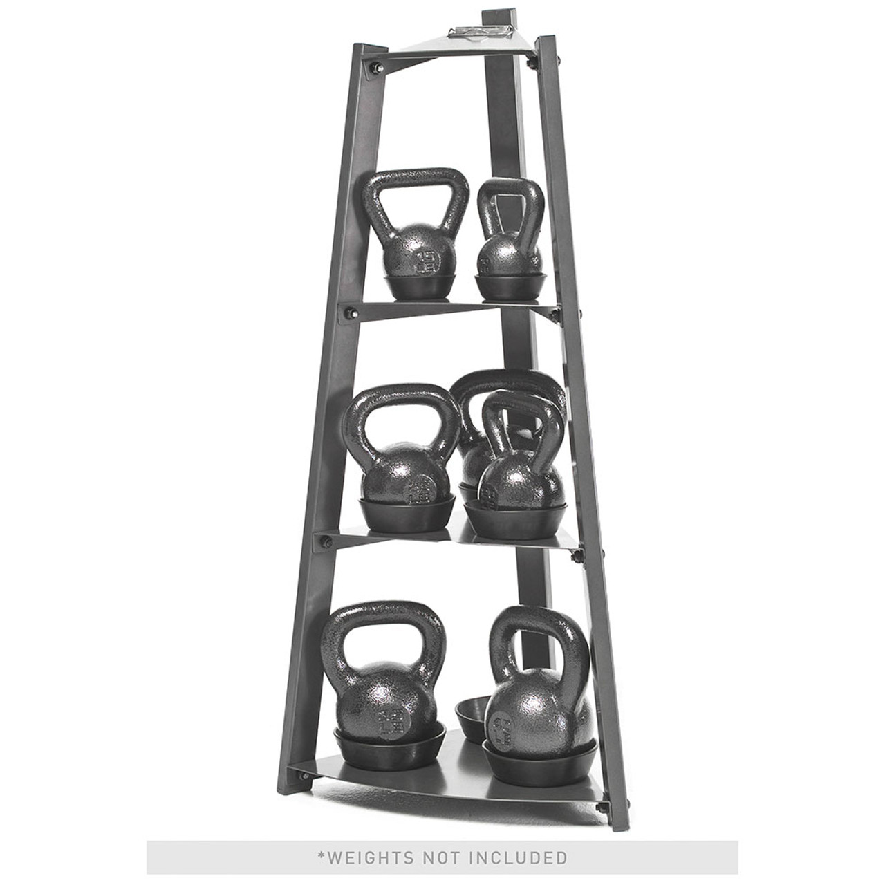 The Apex 3 Tier Kettlebell Rack VKBS-1N organizes your kettlebell set