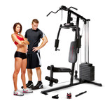 Models with the Marcy Club Home Gym MKM-1101