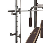 The Marcy Smith Machine SM-4008 multiple bar catches for squats and benching