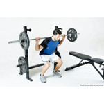 The Marcy Olympic Weight Bench PM-70210 in use - squats