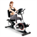 Model using the Regenerating Magnetic Recumbent Bike | Marcy ME-706