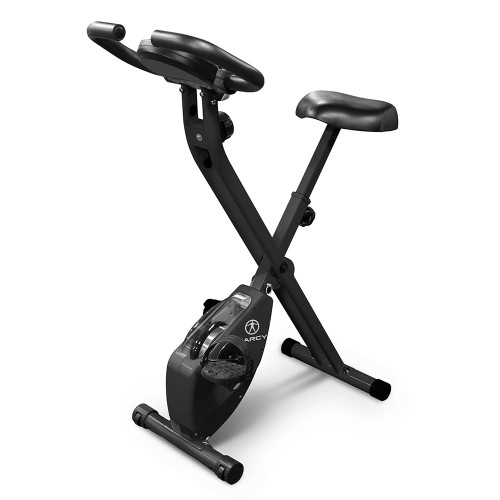The Marcy Foldable Bike in Black NS-654 is a convenient low-impact method of getting an intense cardio workout