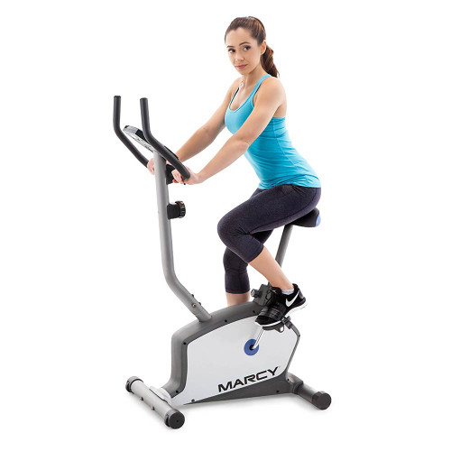 The Marcy Magnetic Resistance Upright Bike NS-1201U in use