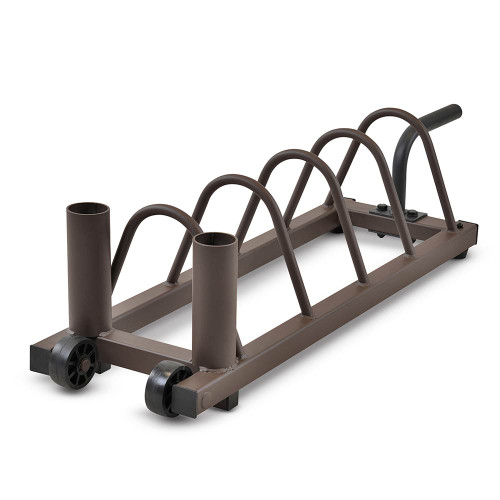 Horizontal Plate Rack SteelBody STB-0130 conveniently stores your olympic and standard plates