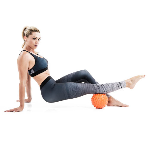 Bionic Body Massage Ball used by Kim Lyons for massage therapy for calfs