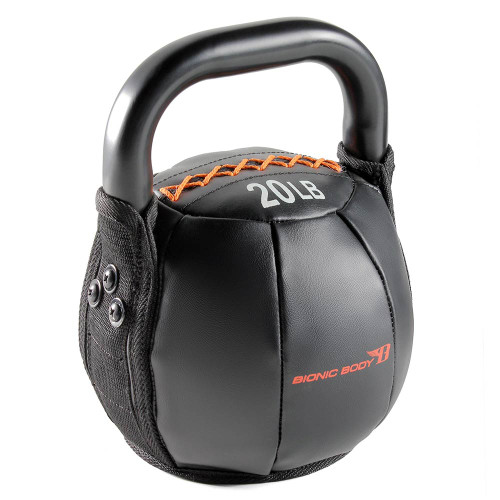 The 20 lbs. Bionic Body Kettle Bell is soft so you do not have to worry about getting hurt, it will optimize your HIIT conditioning workout!