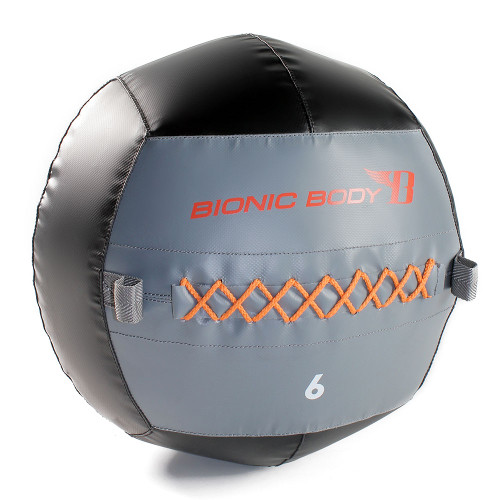 The Bionic Body 6 lb. Medicine Ball is soft so you can exercise and not worry about getting hurt during your HIIT conditioning