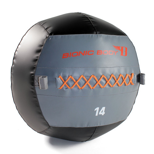The Bionic Body 10 lb. Medicine Ball is soft so you can exercise and not worry about getting hurt during your HIIT conditioning