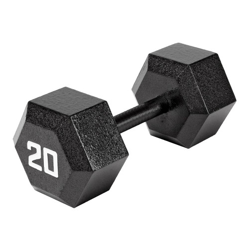 The Marcy 20 LB. ECO Hex Dumbbell IV-2020 free weight optimizes your high intensity interval body building training