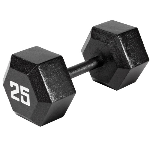The Marcy 25 LB. ECO Hex Dumbbell IV-2025 free weight optimizes your high intensity interval body building training