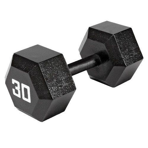 The Marcy 30 LB. ECO Hex Dumbbell IV-2030 free weight optimizes your high intensity interval body building training
