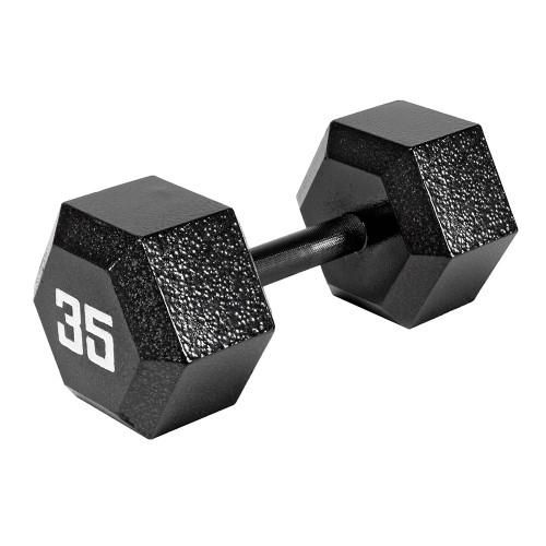The Marcy 35 LB. ECO Hex Dumbbell IV-2035 free weight optimizes your high intensity interval body building training