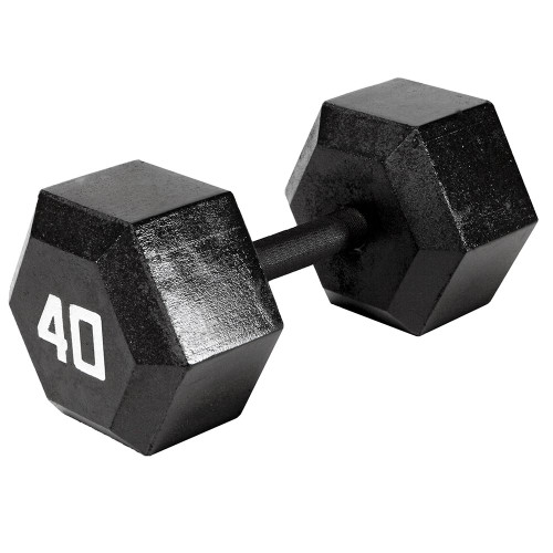 The Marcy 40 LB. ECO Hex Dumbbell IV-2040 free weight optimizes your high intensity interval body building training