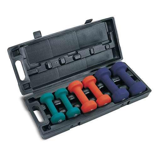 3-Pair Neoprene Dumbbell Set by Marcy will help condition and tone your body