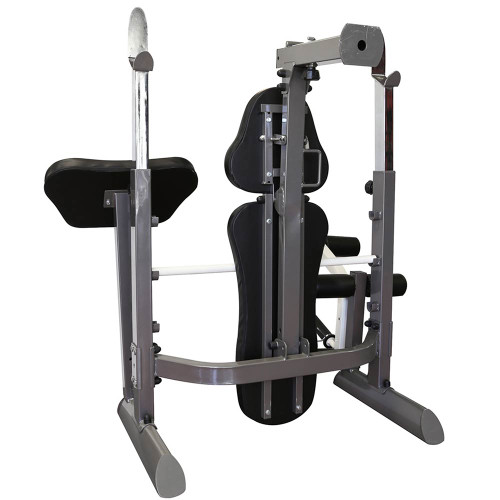 The Marcy Foldable Mid-Size Workout Bench MWB-50100 by Marcy folds for convenient storage