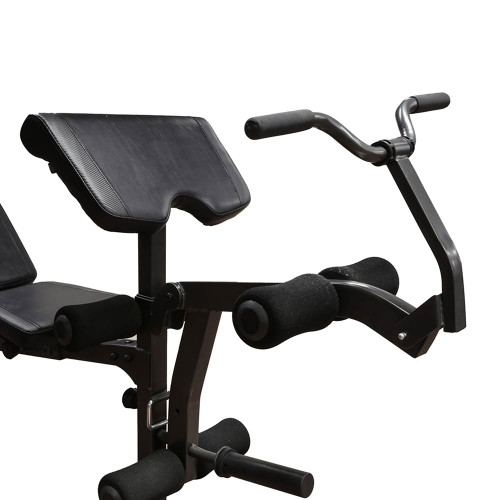 The Marcy Olympic Weight Bench MD-857 includes a comfortable preacher curl pad