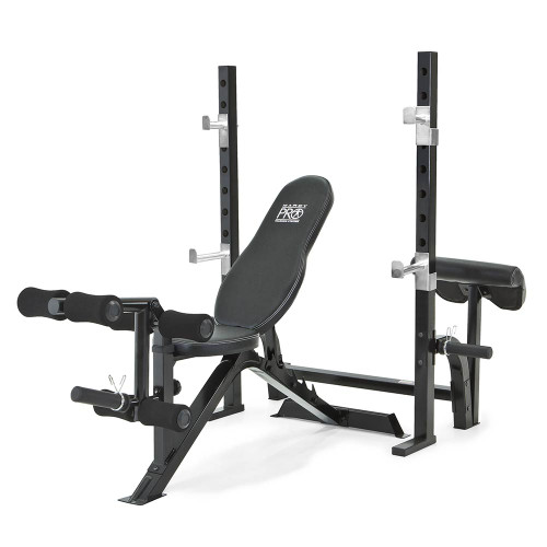 Marcy Pro 2PC Olympic Bench W/ Walk In Squat Rack | PM 842
