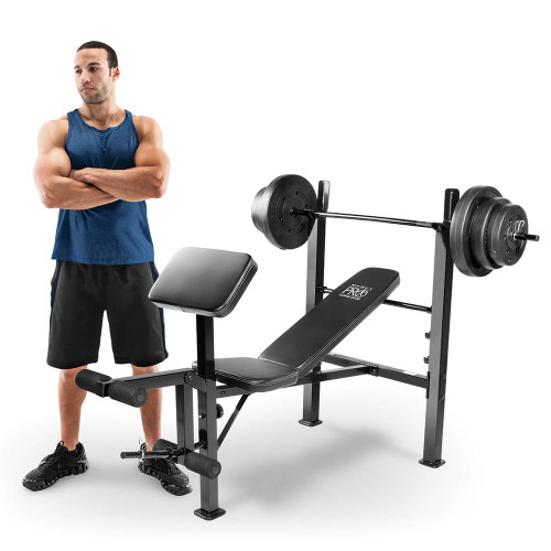Model with the Marcy Pro Standard Bench Combo | PM-20115