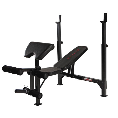 The MarcyClub Olympic Weight Bench | MKB-733 has a sturdy and durable construction