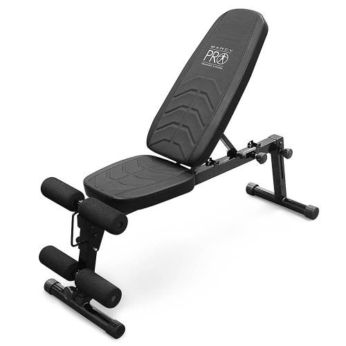 The Marcy Pro Utility Bench PM-10110 is a durable adjustable bench that is perfect for any gym