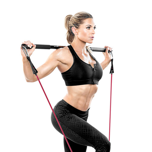Bionic Body BBEB-020 Exercise Bar in use by Kim Lyons for Lunges