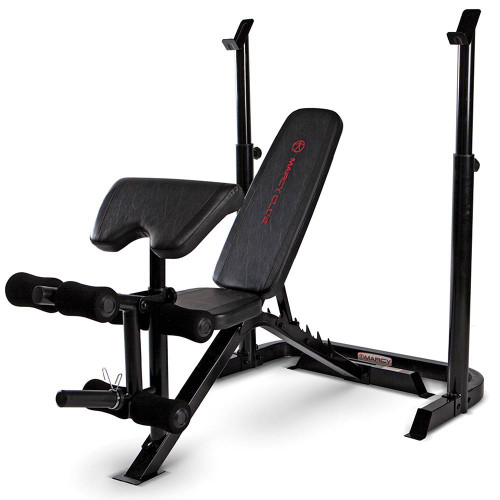 The Marcy Club Deluxe Mid Size Bench MKB-869 is essential for creating the best home gym