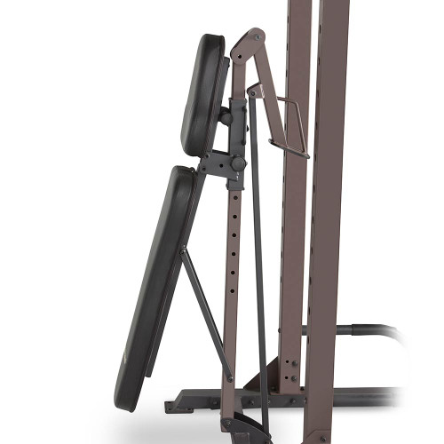 The Steelbody STB-98502 Power Tower with Foldable Bench has a bench that folds to save space
