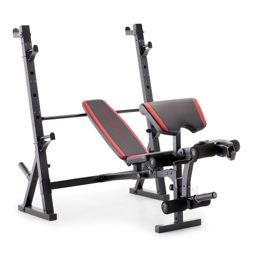 The Marcy Deluxe Olympic Weight Bench MKB-957 by Marcy brings the gym to your home with incline, decline, flat and Military positions for your bench