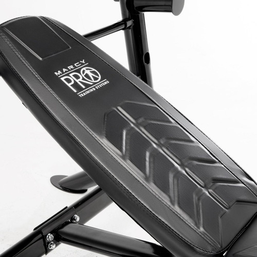 Marcy Mid-Size Olympic Weight Bench | PM-5153 has an adjustable back pad for incline, flat, and decline positions