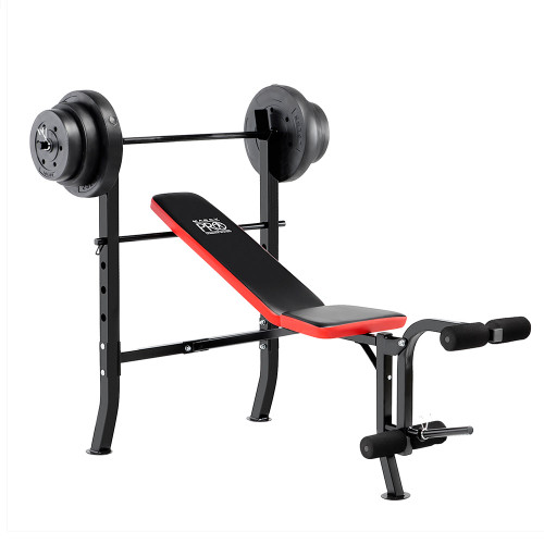 Marcy Pro Standard Weight Bench With 100lb Weight Set PM 2084 ...