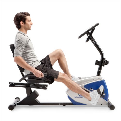marcy magnetic recumbent bike ME-1019R using seat handles