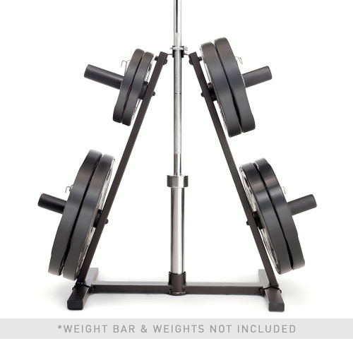 marcy a-frame olympic weight plate tree vertical bar holder PT-5740 close-up barbell