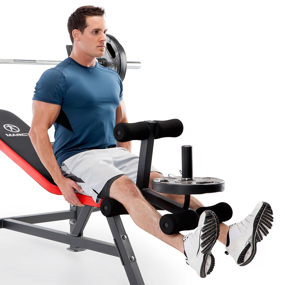 The Marcy Olympic Bench MWB-5146 includes a leg developer for lower body workouts - get your full body workout today!