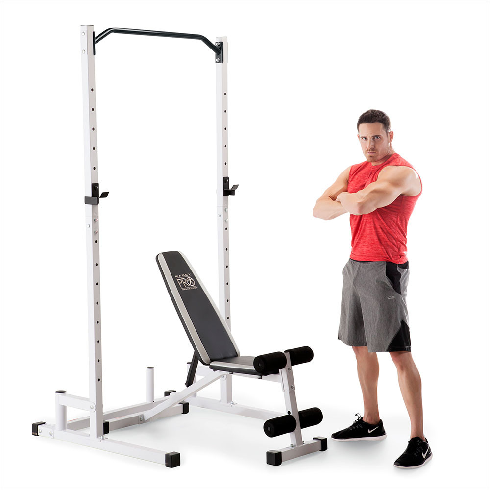 The Marcy Power Cage and Weight Bench SM-5092 is a durable and reliable unit